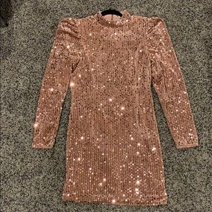 ASOS saint genie velour sequin L/S dress